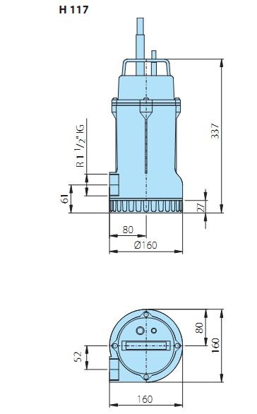 Насосы в ассортименте: ksb etabloc gn 32-1601/2222 (германия) 2,2 kw